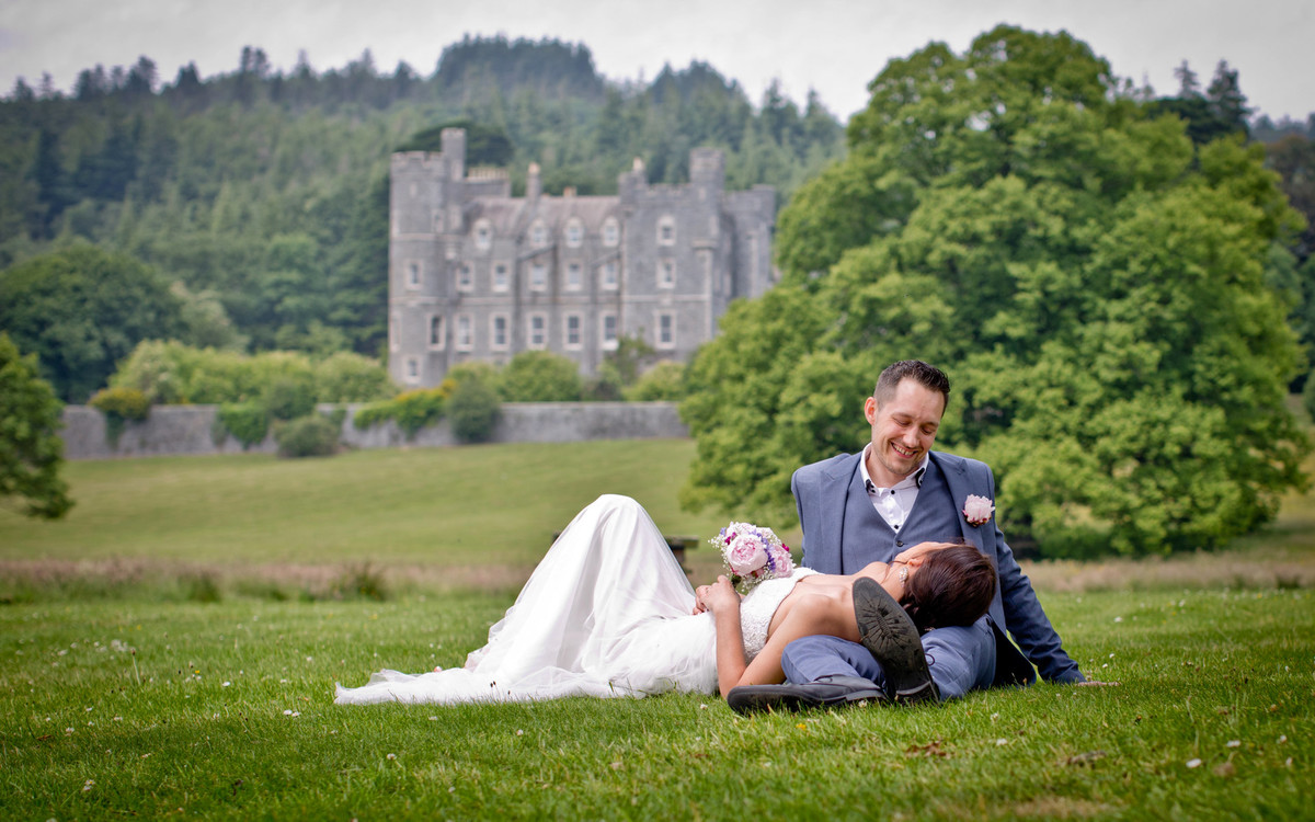wedding photos at castlewellan forest park and tyrella beach