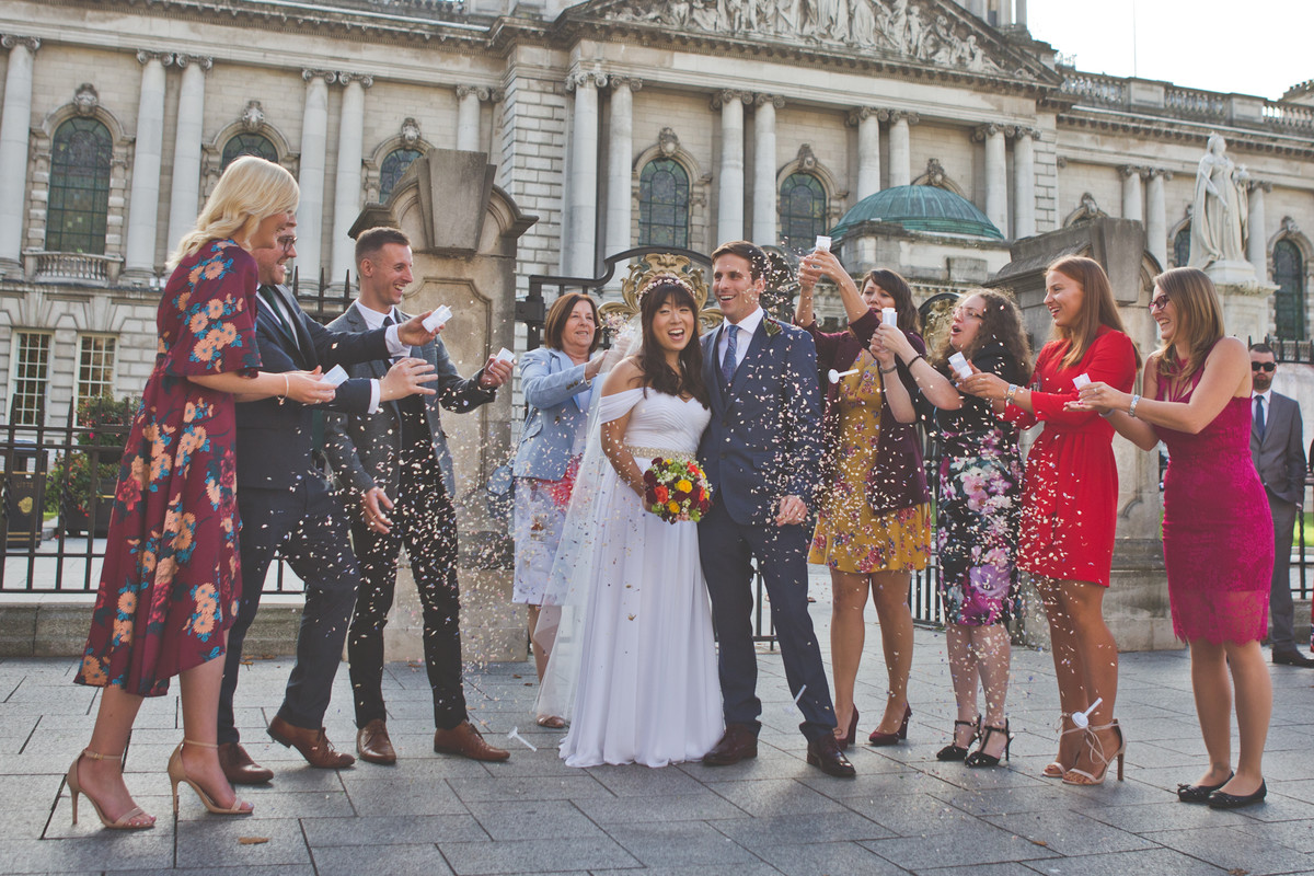wedding photography belfast city hall