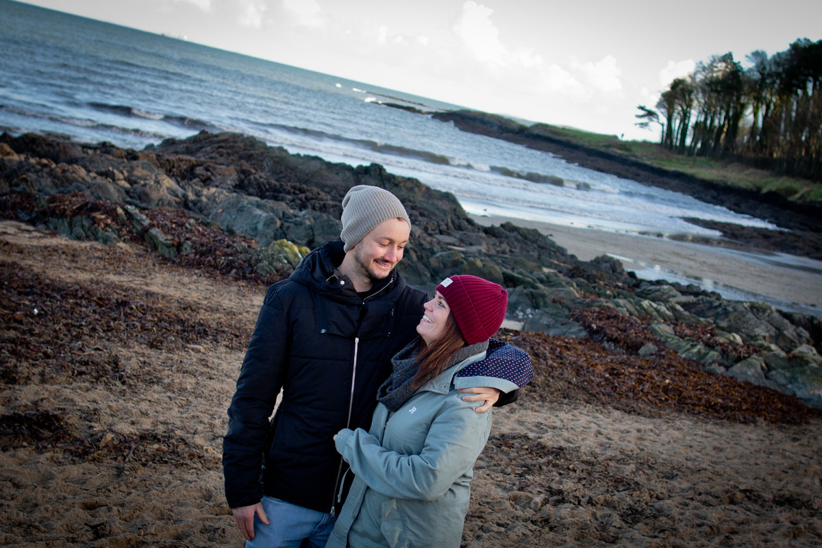 engagement photography claire and geordie in Crawfordsburn Country Park