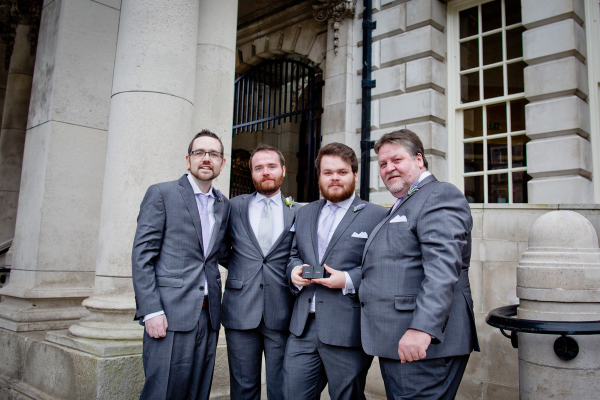 wedding photographer belfast city hall