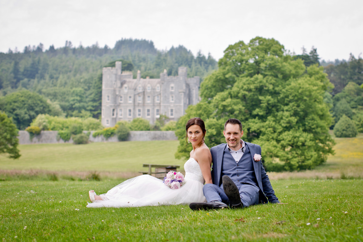 wedding photography in Castlewellan park