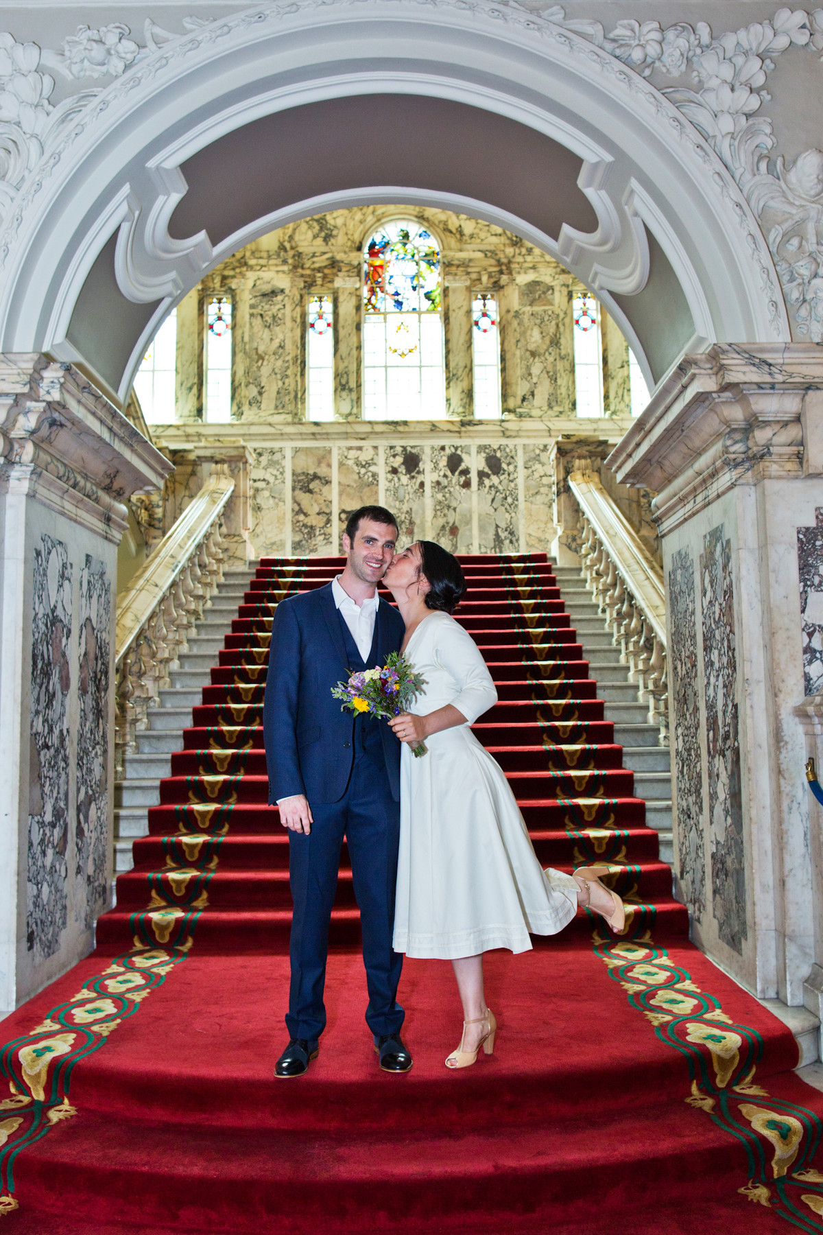 Belfast City Hall wedding photographer snappitt photography portrait bride and groom